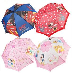 迪士尼兒童傘雨傘直傘自動長柄直柄米妮公主花邊系列-3款