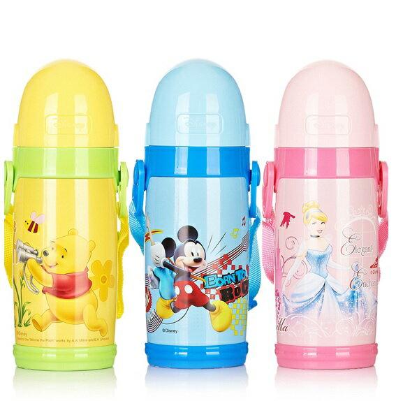 新款Disney 迪士尼 杯子不鏽鋼保溫水壺/保溫壺手提式水杯 彈頭款/米奇米妮維尼芭比