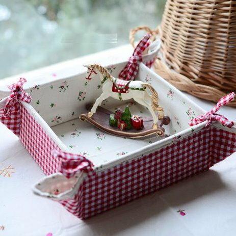 日雜貨zakka風格 田園棉麻布藝可折疊收納盒 桌面雜物盒 糖果盒