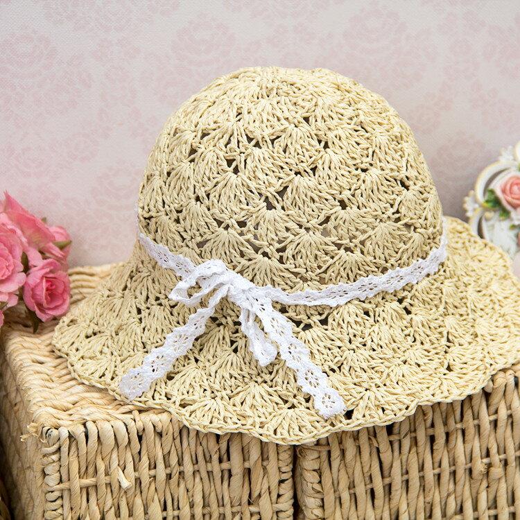 2014新品出遊草帽兒童帽女童夏天親子帽母太陽帽遮陽帽防曬 - 限時優惠好康折扣