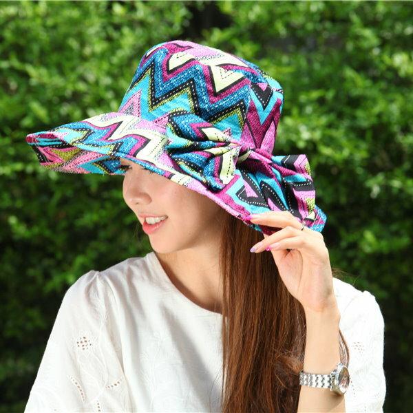 折疊太陽帽防紫外線帽子女夏天韓版遮陽帽休閑沙灘帽