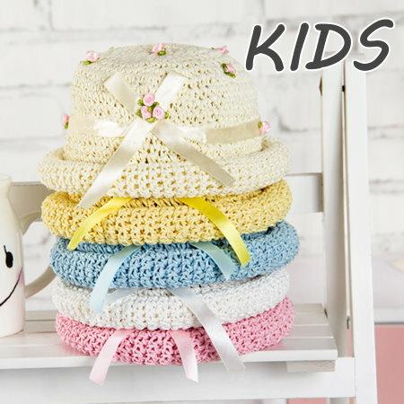 嬰幼兒遮陽帽嬰兒帽子女寶寶太陽帽韓國女童帽春夏天兒童涼帽草帽