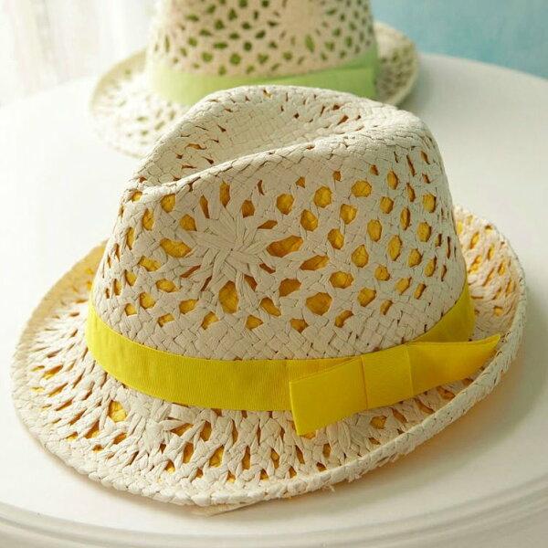 新品雙層撞色熒光糖果色草帽度假防曬爵士女帽子草編禮帽