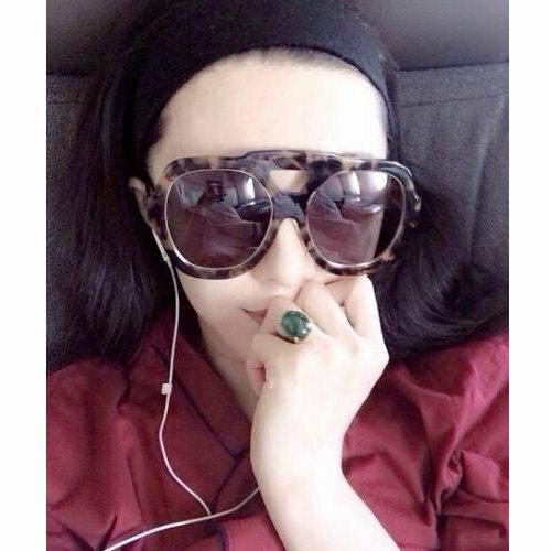 日韓流行明星范冰冰同款 大號修臉女士太陽鏡大臉個性潮搭墨鏡街拍眼鏡