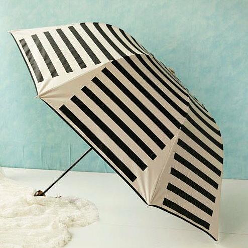 晴雨傘 折傘 海軍風防紫外線防曬防水兩用拱形 黑膠傘遮陽傘