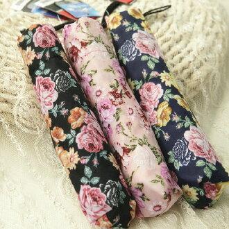 新品鉛筆傘晴雨傘 田園碎花花朵 超細輕便防曬遮陽兩用傘