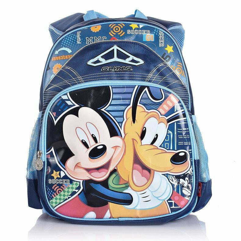 Disney 迪士尼 米奇高飛狗小學生書包兒童減負護脊雙肩包 1~3年級SC9952A ~