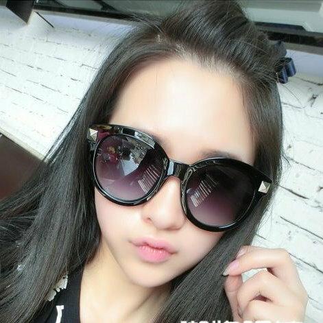 日韓流行款潮牌歐美朋克複古方鉚釘超大框無敵修臉款太陽眼鏡男女墨鏡