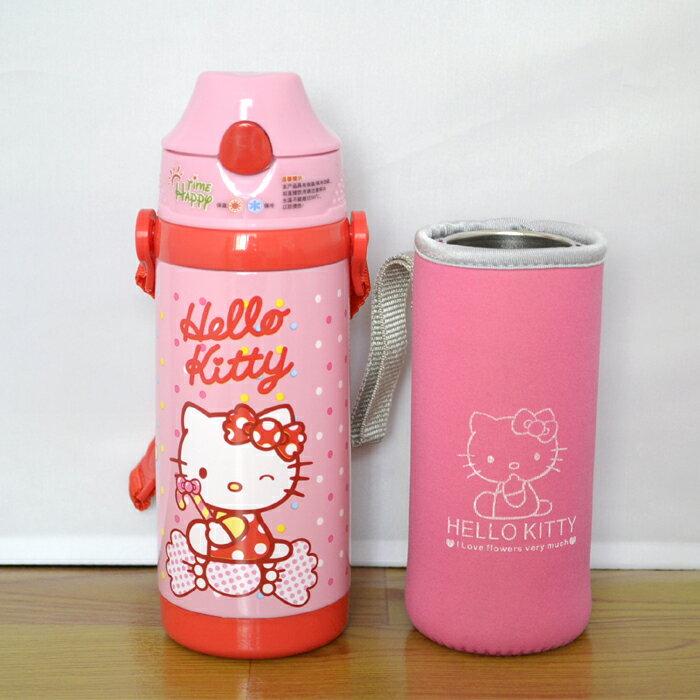 新款 Hello Kitty凱蒂貓 不鏽鋼保溫水壺/吸管保溫壺380ml/單售
