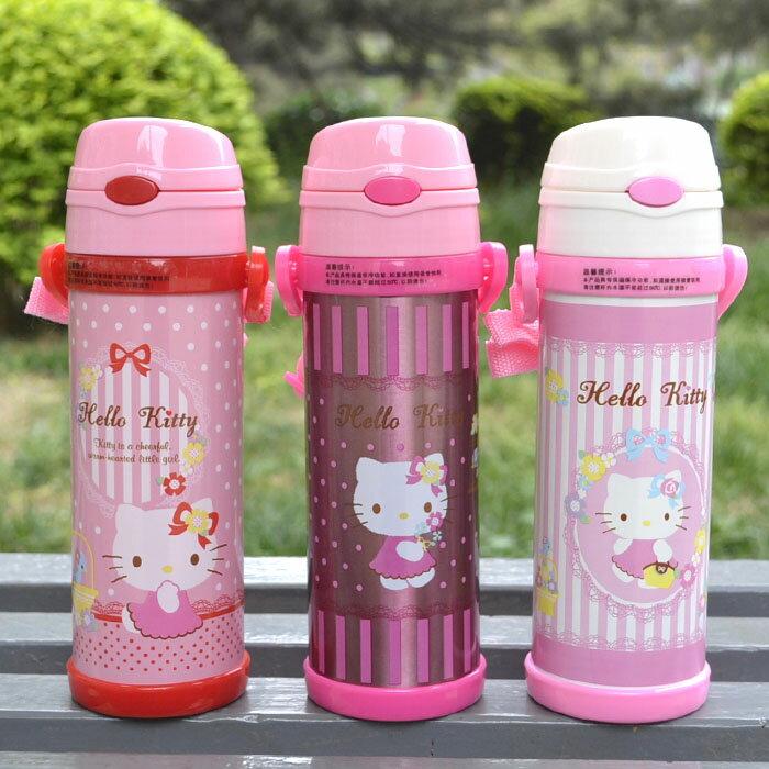 新款 Hello Kitty凱蒂貓 不鏽鋼保溫水壺/吸管保溫壺500ml/單售