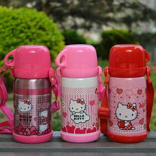 新款HelloKitty凱蒂貓不鏽鋼保溫水壺吸管保溫壺600mlKT3614單售