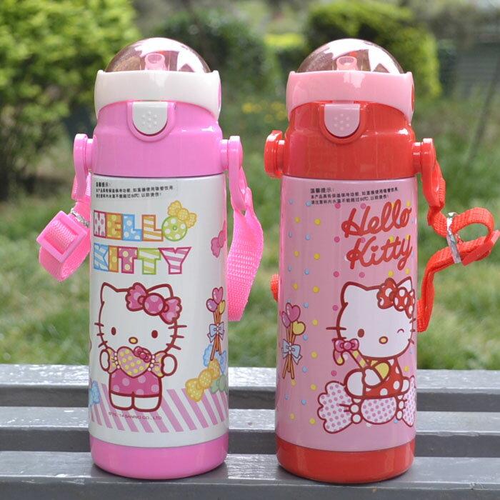 新款 Hello Kitty凱蒂貓 不鏽鋼保溫水壺/吸管保溫壺380ml/KT3610 /單售