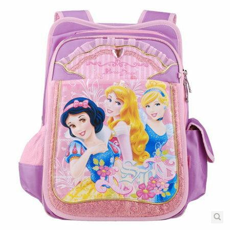 正版Disney迪士尼公主系列小學生書包後背包護脊減負書包-C款紫色