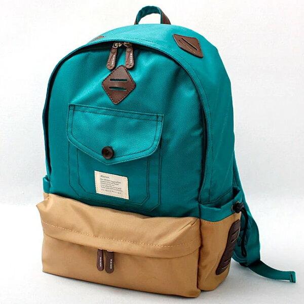 日韓新款流行時尚學院風雙肩包牛津布配PU旅行背包書包
