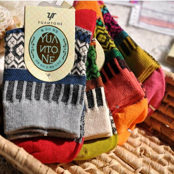 日韓系 民族森林系 圖騰 女襪 短襪 單售 ~  好康折扣