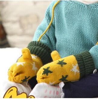 韓版兒童手套冬季寶寶手套韓國冬天男童女童保暖毛絨嬰兒手套