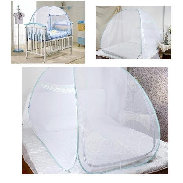 自彈魔術兒童蒙古包可折疊嬰兒蚊帳加密寶寶蚊帳80*120cm