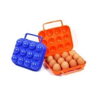 露營戶外野炊戶外手提便攜12格雞蛋盒/顏色隨機