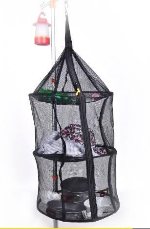 露營戶外野炊便攜掛式折疊圓型廚網籃