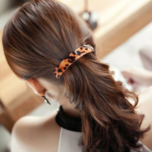麻吉小舖:韓國進口髮飾豹紋素色弧形髮夾彈簧馬尾夾023