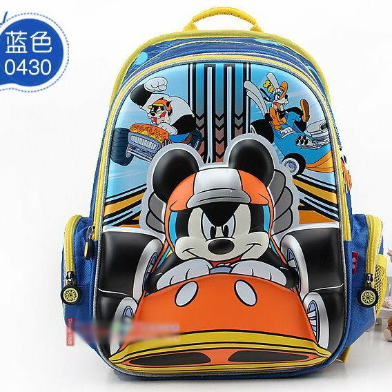 正版Disney迪士尼米奇立體賽車系列兒童書包減負護脊書包