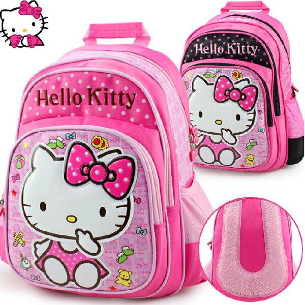 正版凱蒂貓Hellokitty兒童書包後背包1-3年級