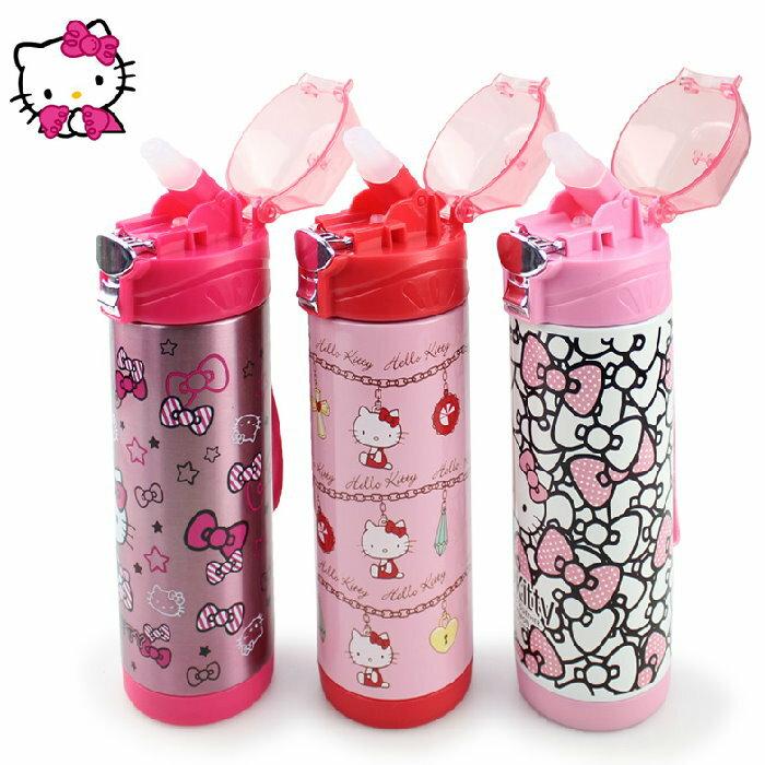 新款 Hello Kitty凱蒂貓 不鏽鋼保溫水壺/吸管保溫壺400ml/KT3663 /單售