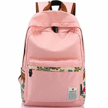 麻吉小舖:日韓新款學院風休閒帆布幸運草旅行學生後揹包雙肩包