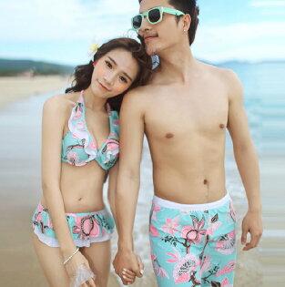 韓國夏新款 情侶韓國溫泉泳褲 沙灘褲/男生款