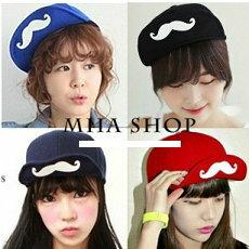 日韓新款 潮流 棒球帽 平沿帽 街舞嘻哈滑板帽 翹鬍子4款-單售