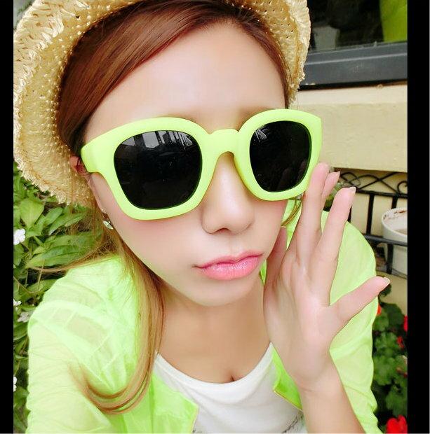 日韓新款 磨砂夏日糖果粗邊 太陽眼鏡墨鏡 M88/單售
