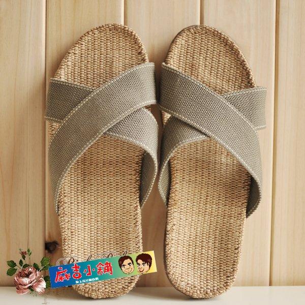 夏季室內拖鞋亞麻涼拖鞋男款拖鞋分尺碼