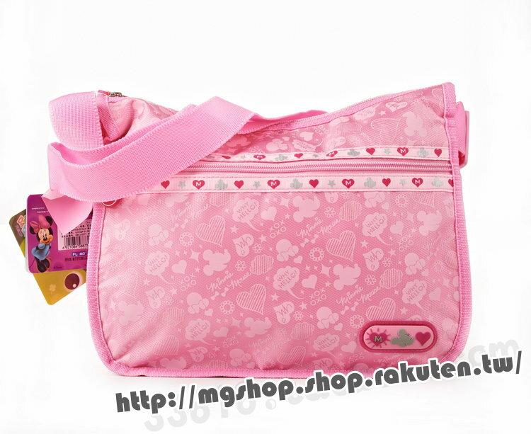 正版 Disney 迪士尼 兒童斜揹包 側背包-M0307粉色