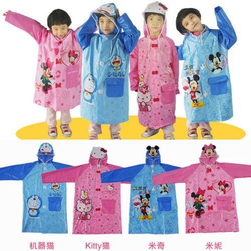 Disney 迪士尼 兒童雨衣 男童女童 雨衣 米奇米妮凱蒂貓小叮噹-4款/單售