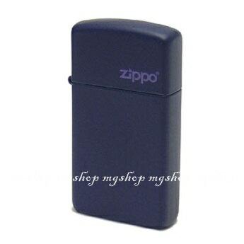 正版原裝 ZIPPO打火機 LOGO字樣-海軍藍烤漆1639ZL(窄)