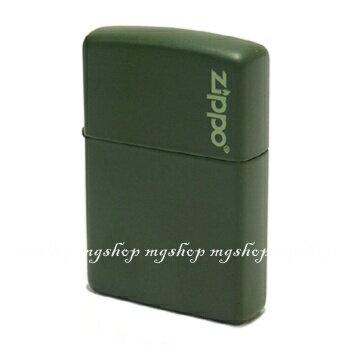 正版原裝 ZIPPO打火機 LOGO字樣-軍綠烤漆221ZL(寬)