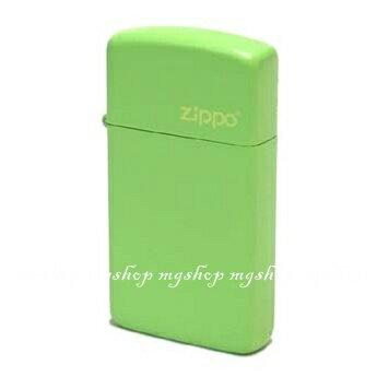 正版原裝 ZIPPO打火機 LOGO字樣-檸檬綠烤漆24315ZL(窄)