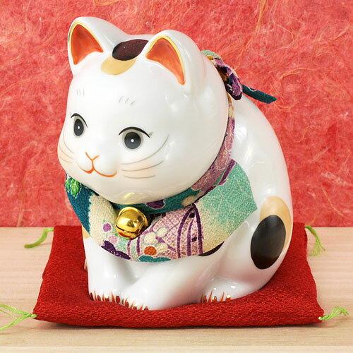 日本製日本原裝藥師窯彩繪招財貓(大)7291