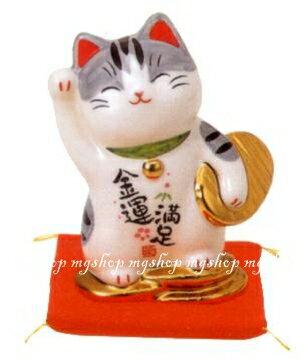 日本原裝 日本製 藥師窯招財貓系列-彩繪金運滿足7446