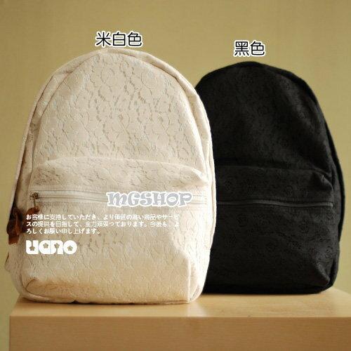日本uano全蕾絲唯美小清新雙肩包背包後背包-7色單售