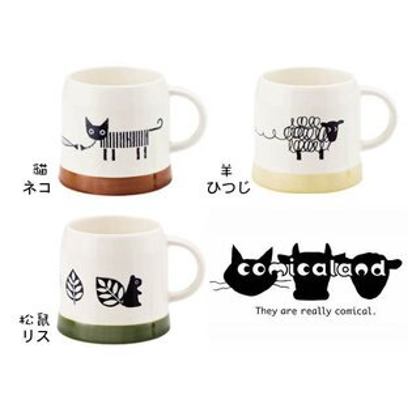 日本原裝comicaland動物造型馬克杯-3款(日本製)