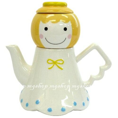 日本原裝 SUNART TEA FOR ONE 幸運天使 杯茶壺組san-1945