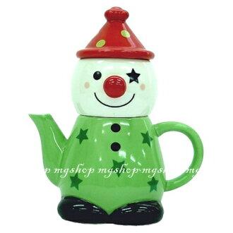日本原裝 SUNART TEA FOR ONE 小丑 杯茶壺組san-1947