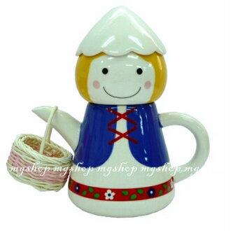 日本原裝 SUNART TEA FOR ONE 阿爾卑斯山男孩 杯茶壺組san-1910