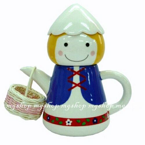 麻吉小舖:日本原裝SUNARTTEAFORONE阿爾卑斯山男孩杯茶壺組san-1910