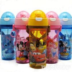 Disney 迪士尼 兒童防漏水壺/吸管水壺550ML(米奇/米妮/公主/史迪奇/cars)單售