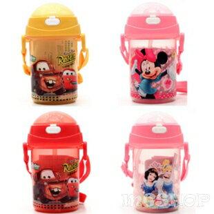 Disney 迪士尼 兒童防漏水壺/吸管水壺350ML(米奇/米妮/公主/史迪奇/cars/米菲兔)單售