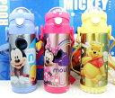 2012新款Disney 迪士尼 不鏽鋼保溫杯/吸管水壺480ML(米奇/米妮/小熊維尼)單售