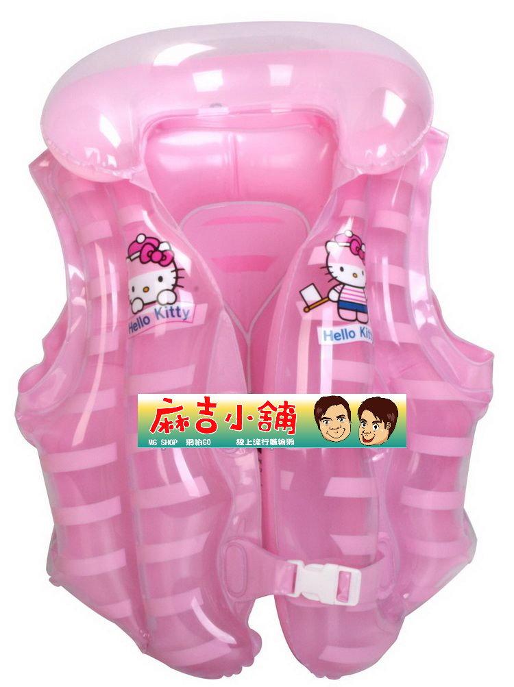 Hello Kitty 凱蒂貓 兒童背心浮圈 游泳圈~^(粉色款^)單售