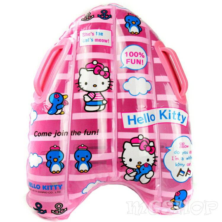 Hello Kitty 凱蒂貓 充氣手把浮板/衝浪板